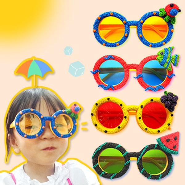 [여름/하비볼클레이] 여름 패셔니스타 안경 /물고기안경 -5인세트
