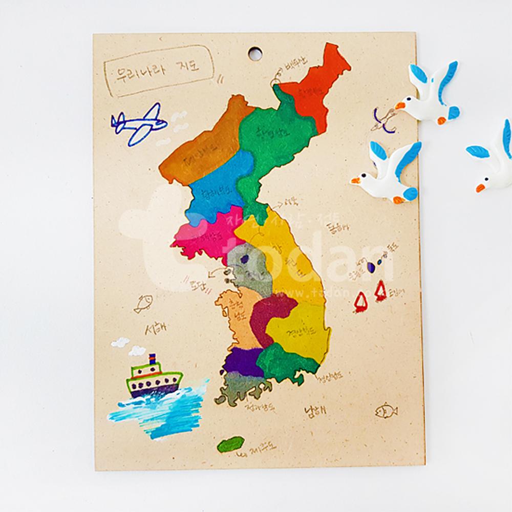 우드 우리나라지도 - 1인세트(실속볼클레이포함)