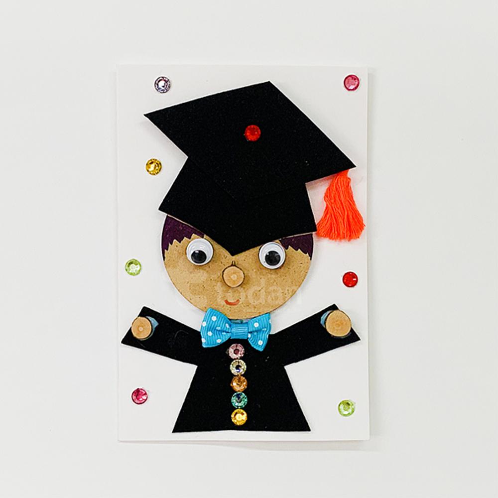 졸업축하 학사모카드 만들기 - 5인세트